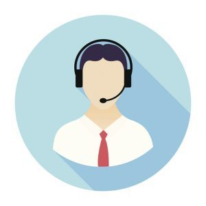 Flat & Long Shadow Call Center Icon